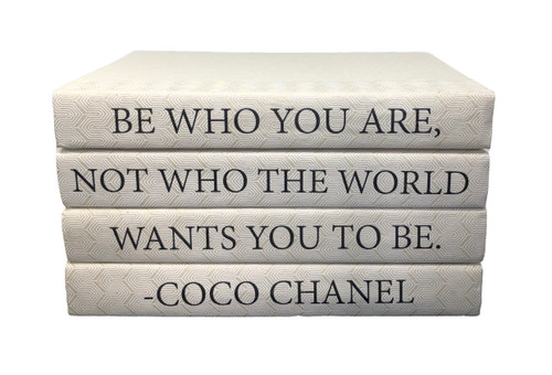 4 Vol On White Zig Zag Be Who You Are Coco Chanel Quote Off White Cover 9 5 Wide Approx 5 Tall E Lawrence Ltd