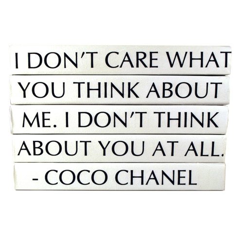 Quotation Series Coco Chanel I Dont Care What You Think 5
