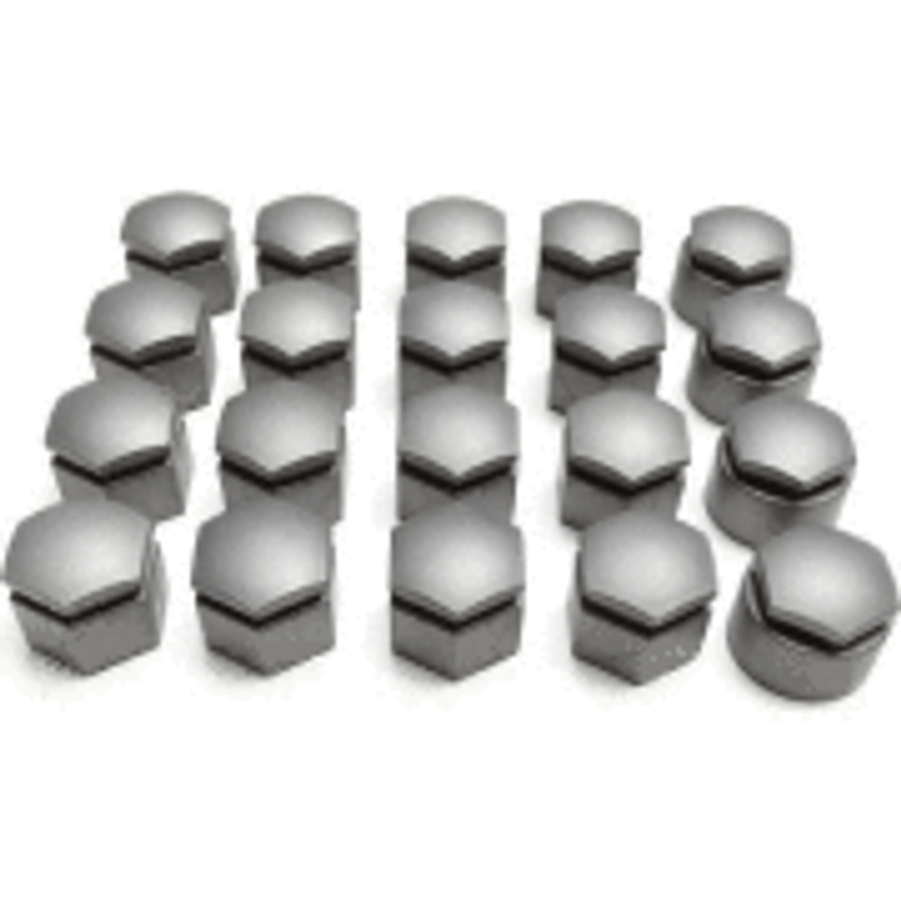 Set of Audi Wheel Bolt Caps 2004-2015 GREY