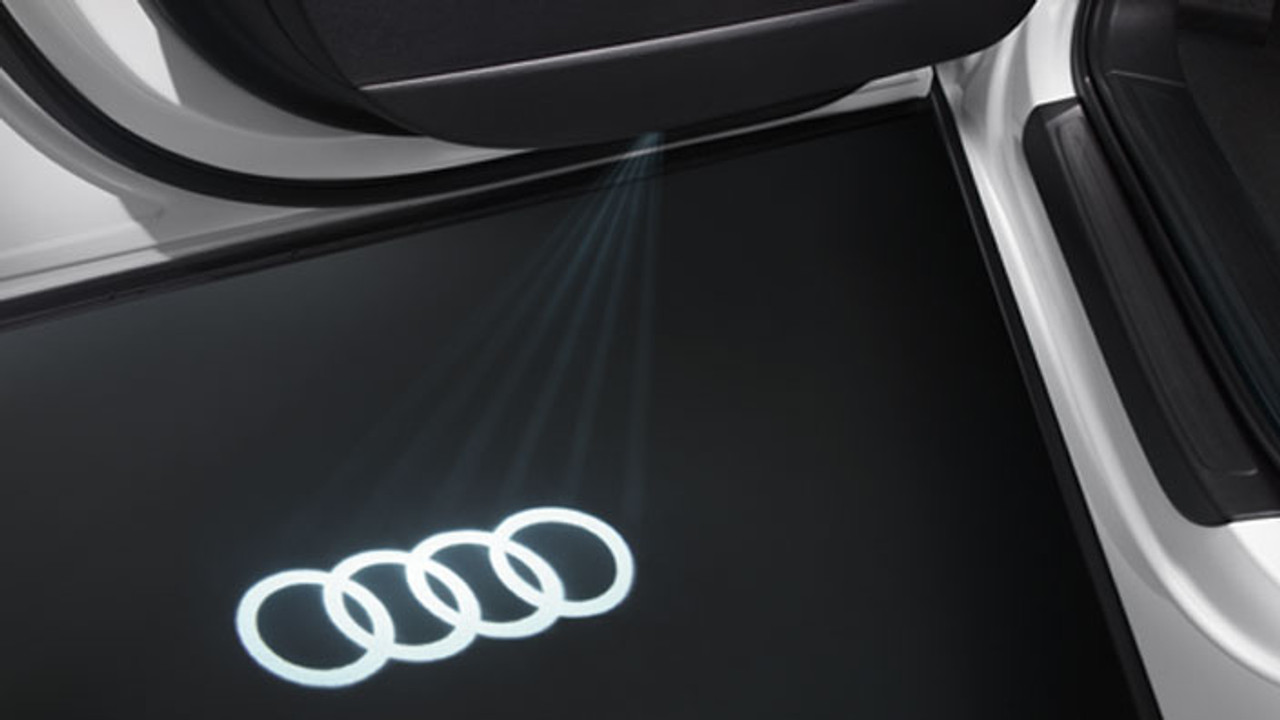 Audi LED Entry Area Light Kit 'Four Rings' Logo with Narrow Plug