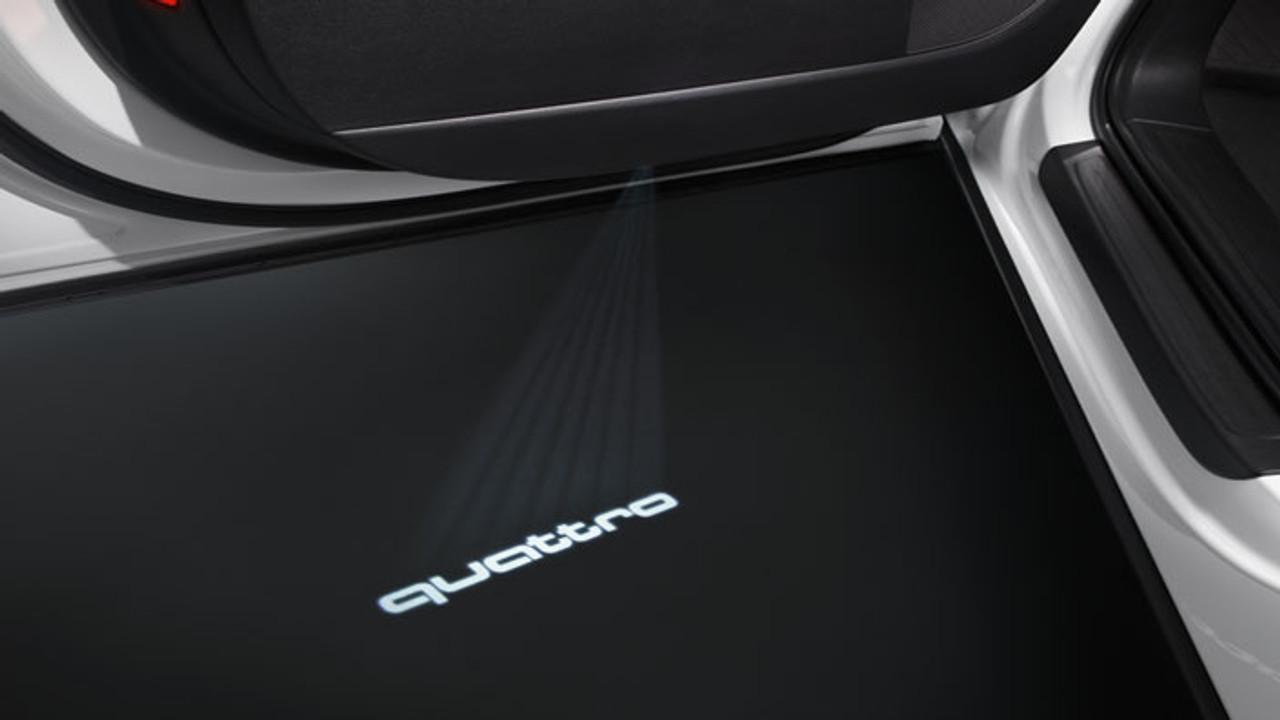 Audi LED Entry Area Light Kit 'quattro' Logo with Narrow Plug