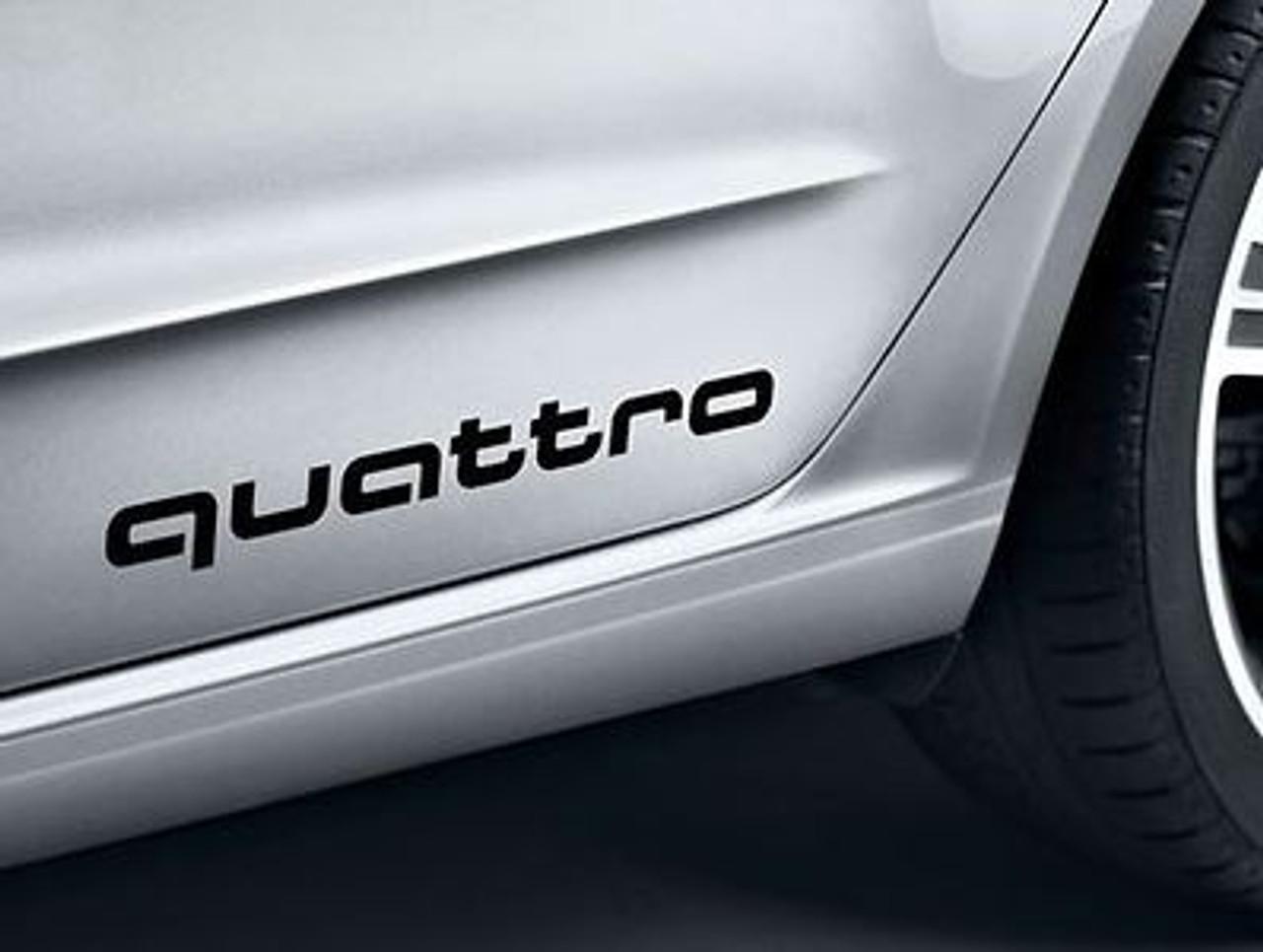 Audi 'Quattro' Decal Set in Brilliant Black
