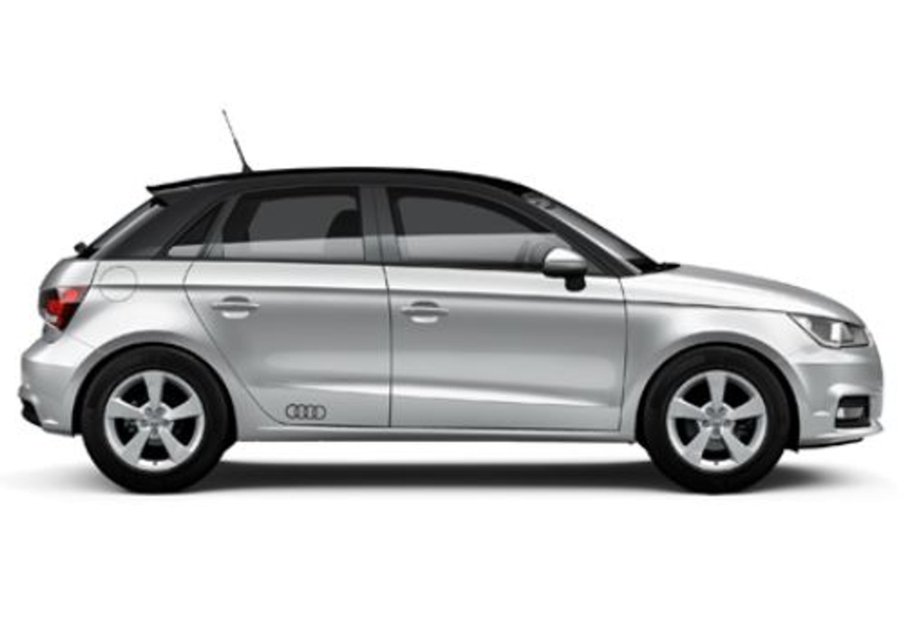 'Audi Rings' Decal Set in Gloss Black