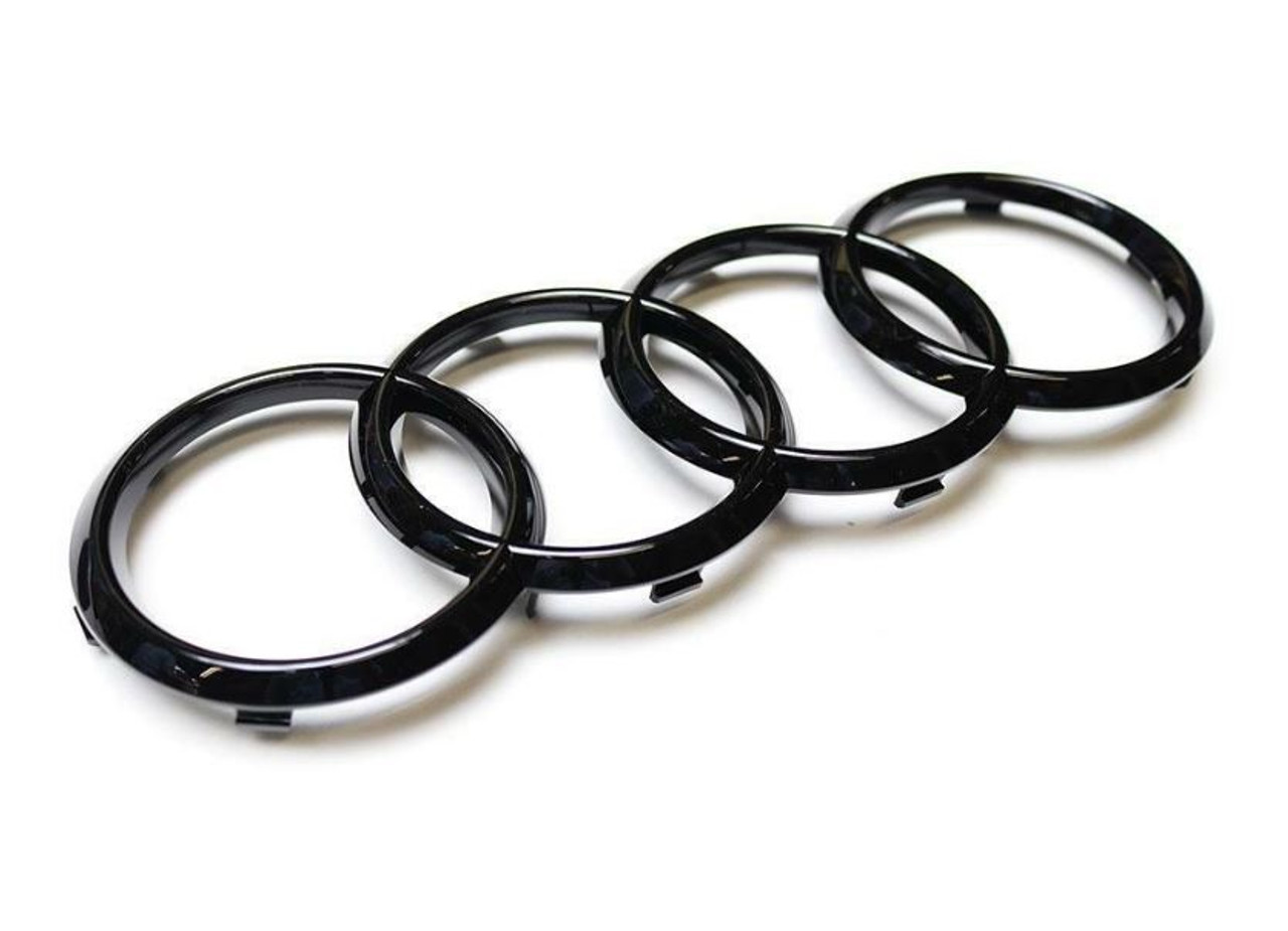 Audi Front grille 'Rings' emblem badge in Gloss Black