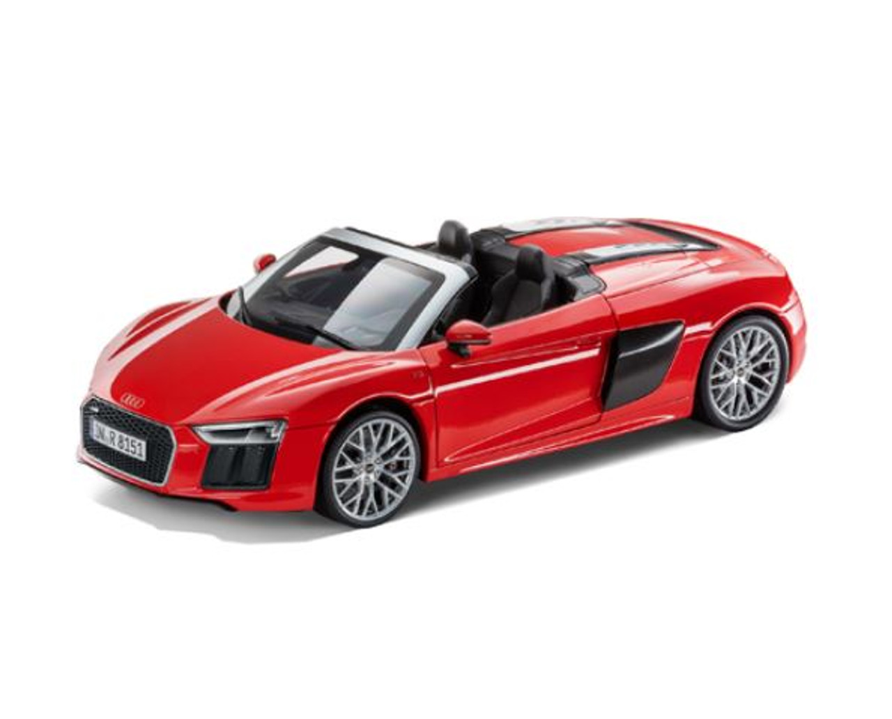 Genuine Audi R8 Spyder V10, Dynamite Red, 1:18 Pullback Model Car - 5011618552