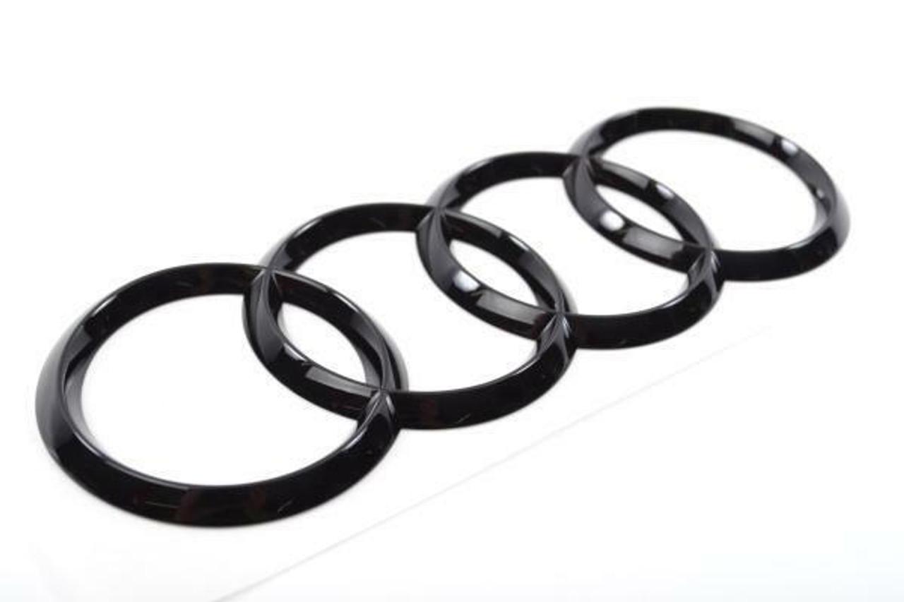 Audi RS3 (8V) rear tailgate 'Rings' emblem in Gloss Black