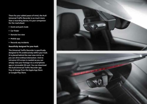Genuine Audi UTR Front Universal Traffic Recorder Camera 4G0063511E (including wiring kit)