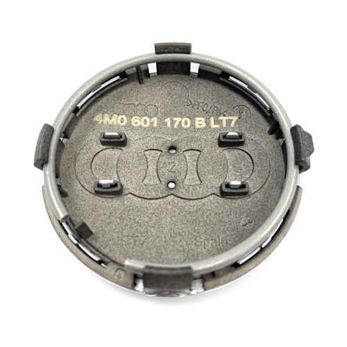 Genuine Audi Black alloy wheel centre cap - 4M0601170B