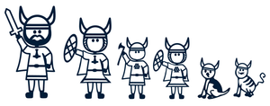 Stick Family Vinyl - Viking Family