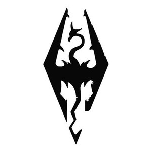 Gamer Vinyl * Skyrim Dragon