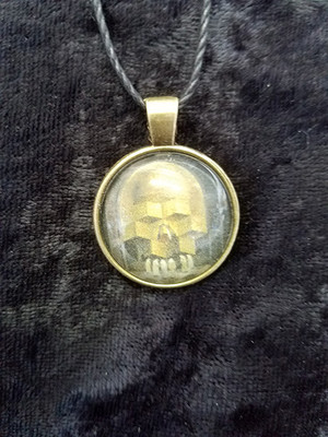 Dali - Skull of Zurbaran  (dome necklace)