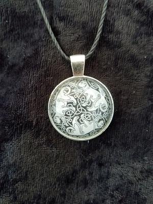 Celtic Cats  (dome necklace)