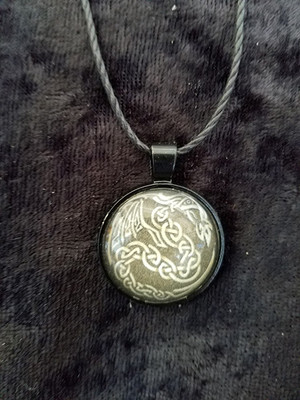 Celtic Dragon  (dome necklace)