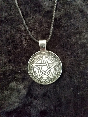 Celtic Knot work Pentacle (dome necklace)