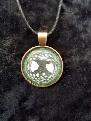 Celtic Knot-work Tree (dome necklace)