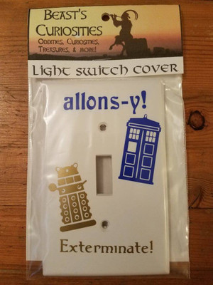 Doctor Who : Tardis/Dalek Light Switch Cover