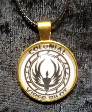 Battlestar Galactica - Viper Pilot (dome necklace)