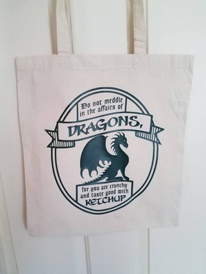 Book Bags - Do Not Meddle In The Affairs of Dragons..