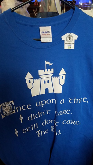 Once Upon A Time I Didn't Care t-shirt - Large