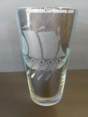 Viking Glass - Longship