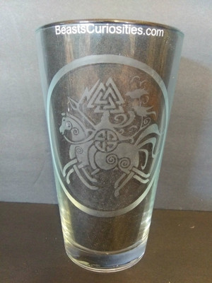 Viking Glass - Odin on Slepnir