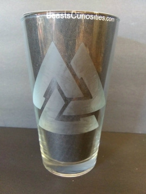 Viking Glass - Valknut