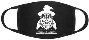 D&D Face mask - D20 - Wizard