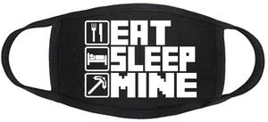 Gamerz Face mask - Minecraft - Eat Sleep Mine