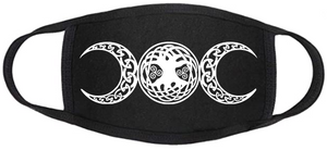 Pagan Face Mask - Triple Moon Tree of Life