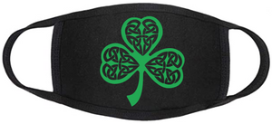 Celtic Face Mask - Shamrock