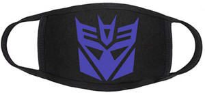 Comic Book Face Mask - Decepticons