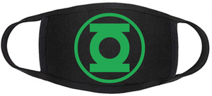 Comic Book Face Mask - Green Lantern