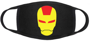 Comic Book Face Mask - Iron Man