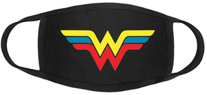 Comic Book Face Mask - Wonder Woman