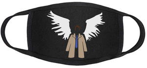Supernatural Face Mask - Castiel Trenchcoat