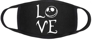 Nightmare Before Christmas Face Mask - Jack Love