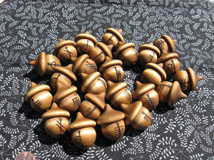 Full Set of Ogham Acorns