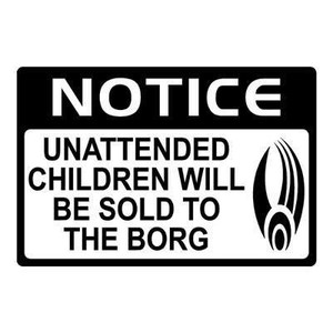 Star Trek Vinyl - Unattended Children Borg