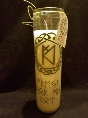 7 Day Candle - Freyr Bindrune
