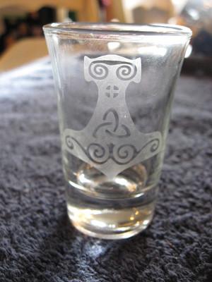 Viking Glass - Mjolnier Shot Glass