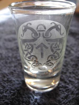 Viking Glass - Tyr's Rune Shot Glass