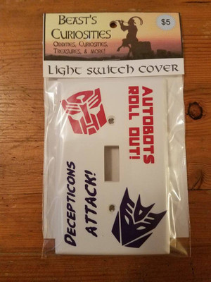 Comics - Transformers Light Switch Cover