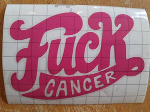 Awareness Vinyl - F*ck Cancer 1