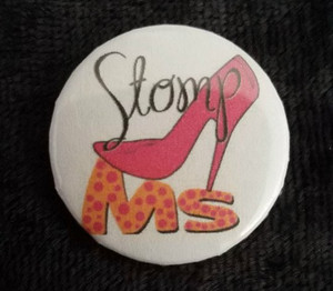 Awareness Button - MS Heel Stomp