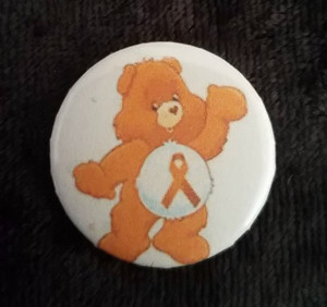 Awareness Button - MS Care Bear