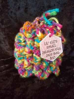 Lil Elf's Dice Bag - Rave Dragon Egg (small)
