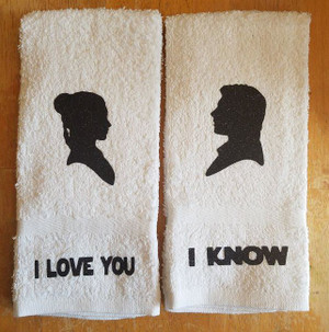 Hand Towel - Han and Leia set
