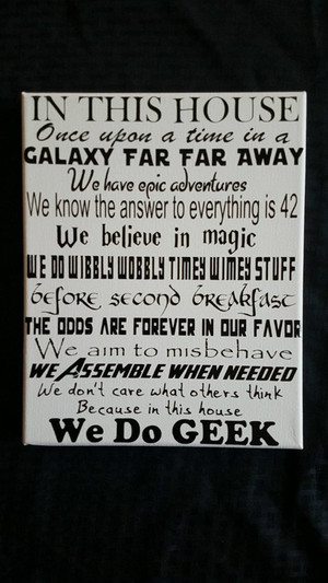 Geek Decor - In This House 1