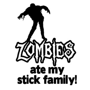 Zombie Vinyl - Zombies Ate My Stick Family
