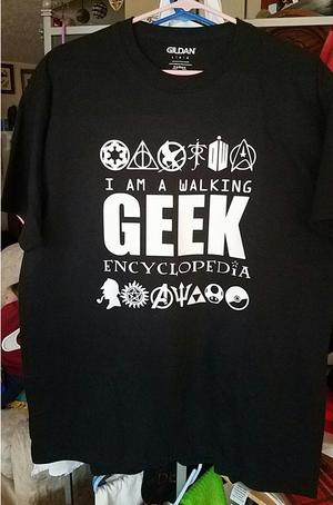 Geek T-Shirt - Walking Geek Encyclopedia
